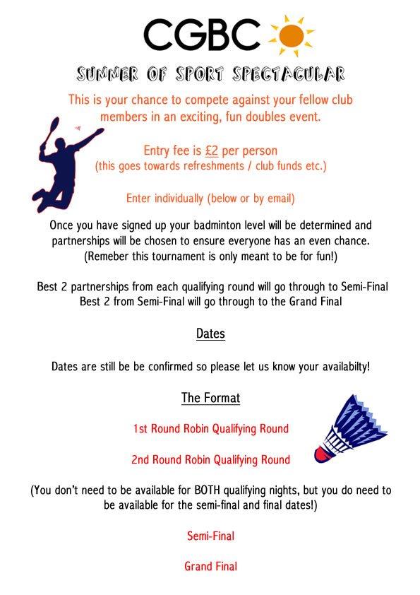 Badminton Poster 2015